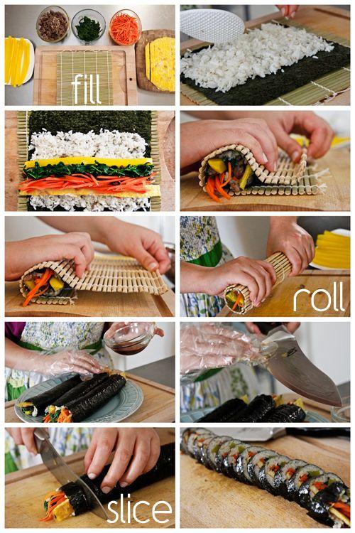 Another recipe for kimbap | Recipes | Pinterest