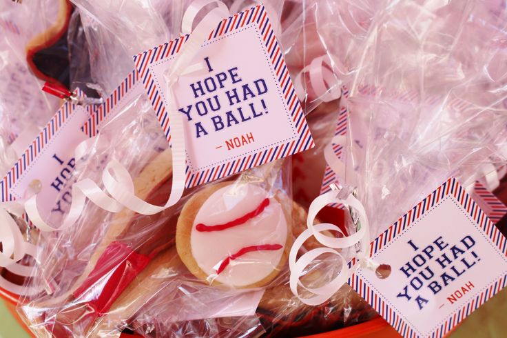 "Hope You Had a Ball"" favor tags for a sports theme or baseball ..."