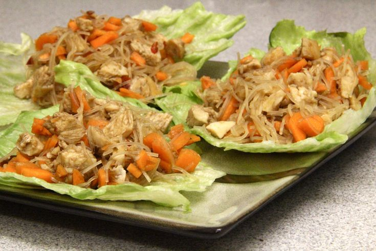 Asian Chicken Lettuce Wraps | Recipe