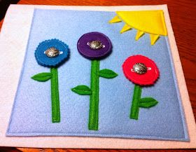Busy Book - Simple Button Flowers Page | Crafts | Pinterest