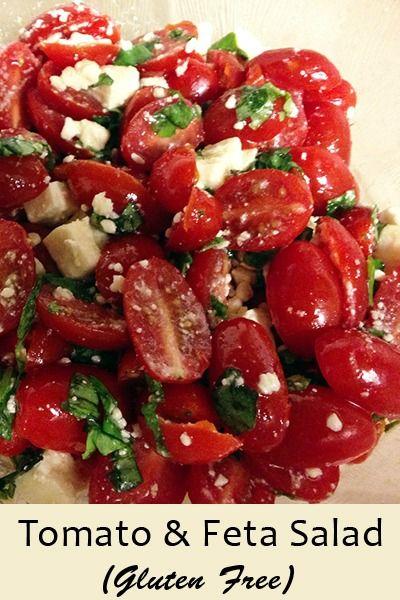 Gluten Free Tomato & Feta Salad | Recipe