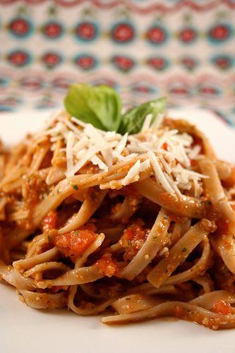 ... with tomato & almond pesto | Feed me - Pizza & Pasta! | Pin