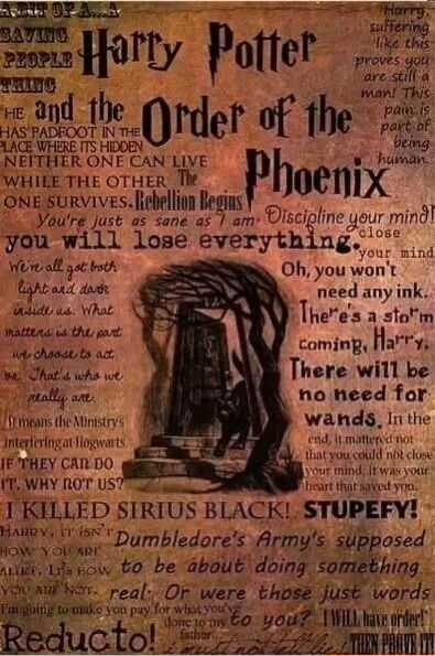 Harry Potter Book Order Of The Phoenix ~ Order of the phoenix quotes harry potter pinterest