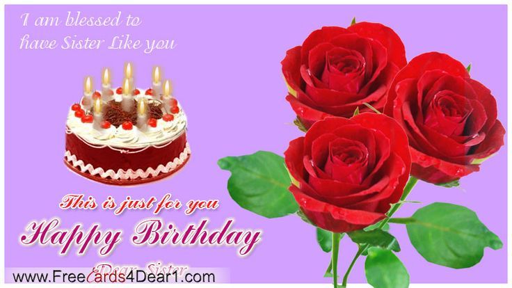 Doc Free Happy Birthday Cards for Facebook Happy Birthday – Happy Birthday Cards for Sister