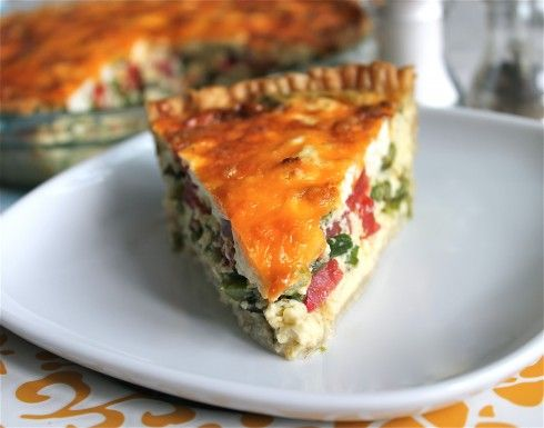 Asparagus, Tomato, and Goat Cheese Quiche | Recipe
