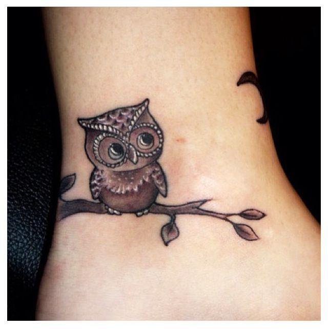 Vintage owls tattoos