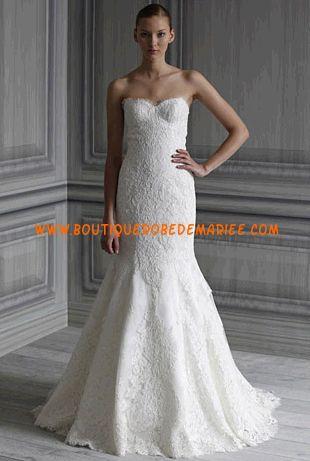 Robe de mariée sirène en dentelle  Robe de mariée dentelle ...