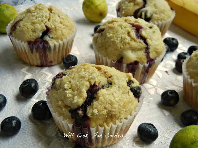 Blueberry Banana Key Lime Muffins | Muffins | Pinterest