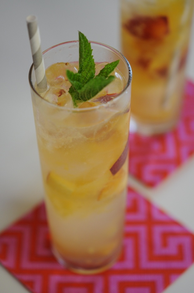 peach collins: 1/4 cup simple syrup 1/4 cup lemon juice 1/2 cup ...