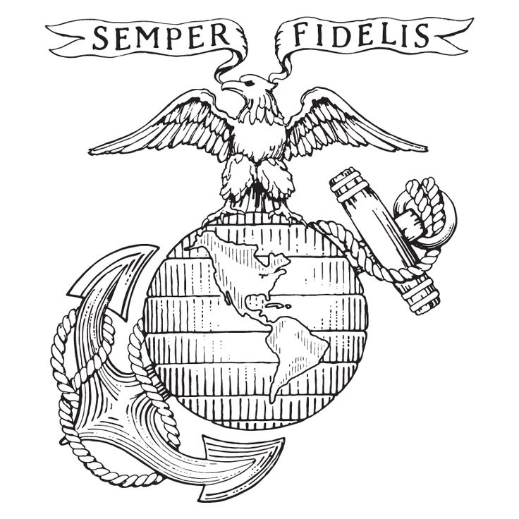 marine corp coloring pages - photo#3