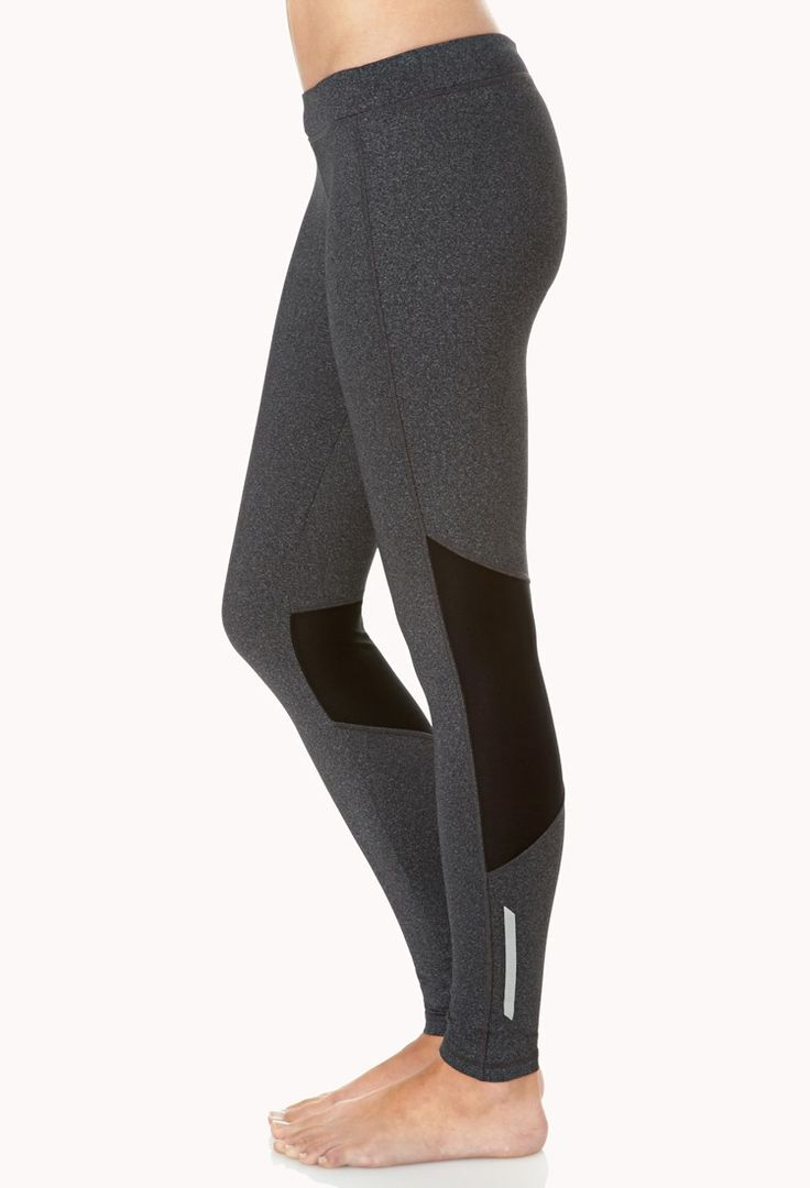 Mesh-Trimmed Skinny Workout Leggings | Exercise | Pinterest