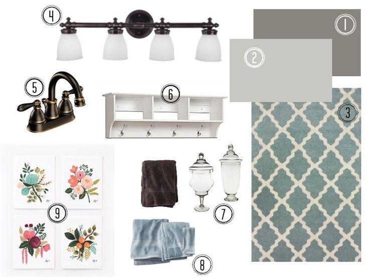 Bathroom Mood Board For The Home Pinterest