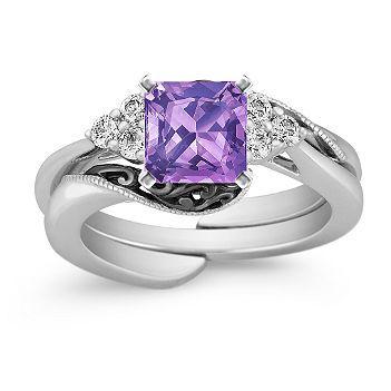 Purple Sapphire Wedding Ring Wedding Pinterest