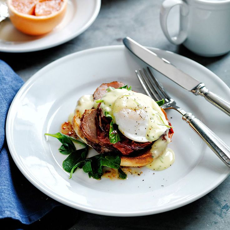 Traditionally eggs Benedict includes Canadian bacon while eggs ...