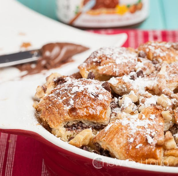 Nutella-Bread-Pudding | Desserts & Cakes | Pinterest
