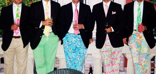 only real men wear Lilly Pulitzer