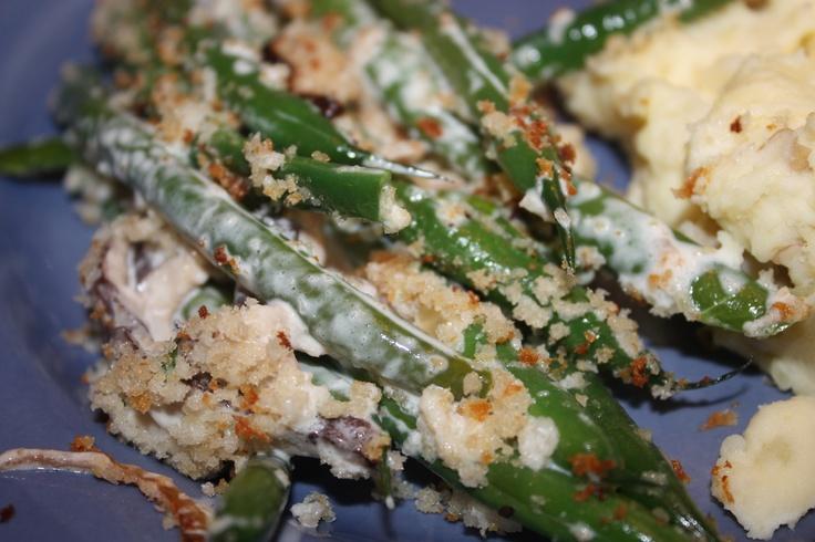 Green Beans with Creamy Mushrooms | Veggies | Pinterest