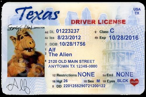 Texas Drivers License Id Template Car Interior Design