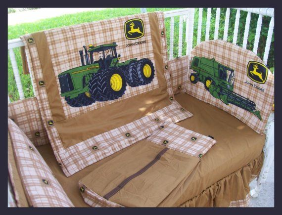 new john deere baby crib bedding set made w new brown