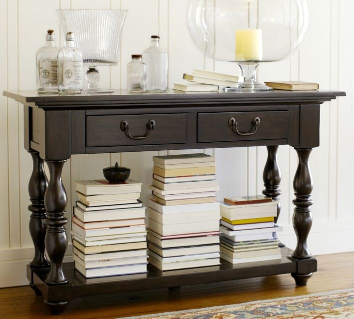 Console table pottery barn for the home pinterest for Pottery barn foyer ideas