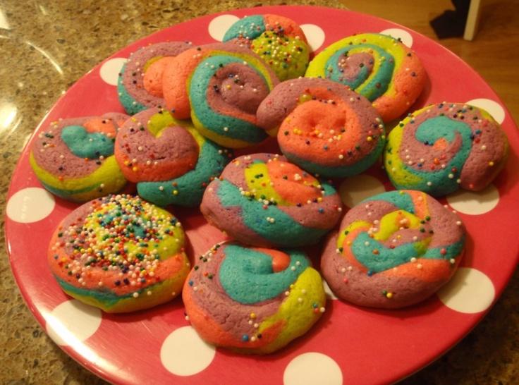 Rainbow Pinwheel Cookies   Cookies de colores   Pinterest