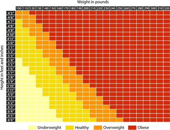 Healthy weight based on height and age : How many calories in half ...