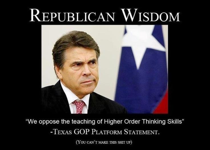 texas republican critical thinking
