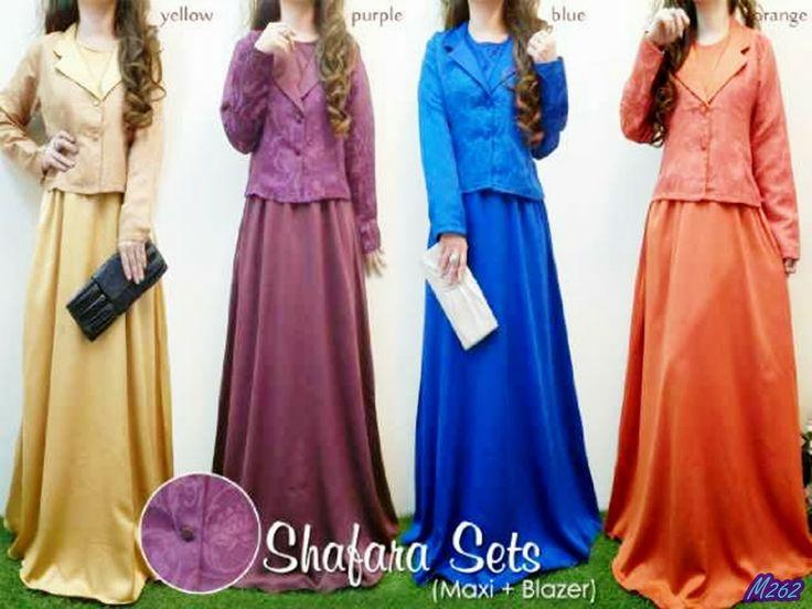 Pakaian : Shafara Sets Jenis Bahan : Satin Velvet + Blazer Songket ...
