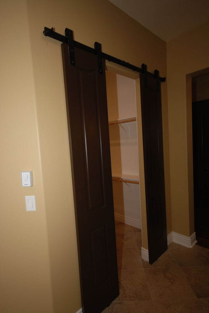 barn doors for master bedroom closet for the home