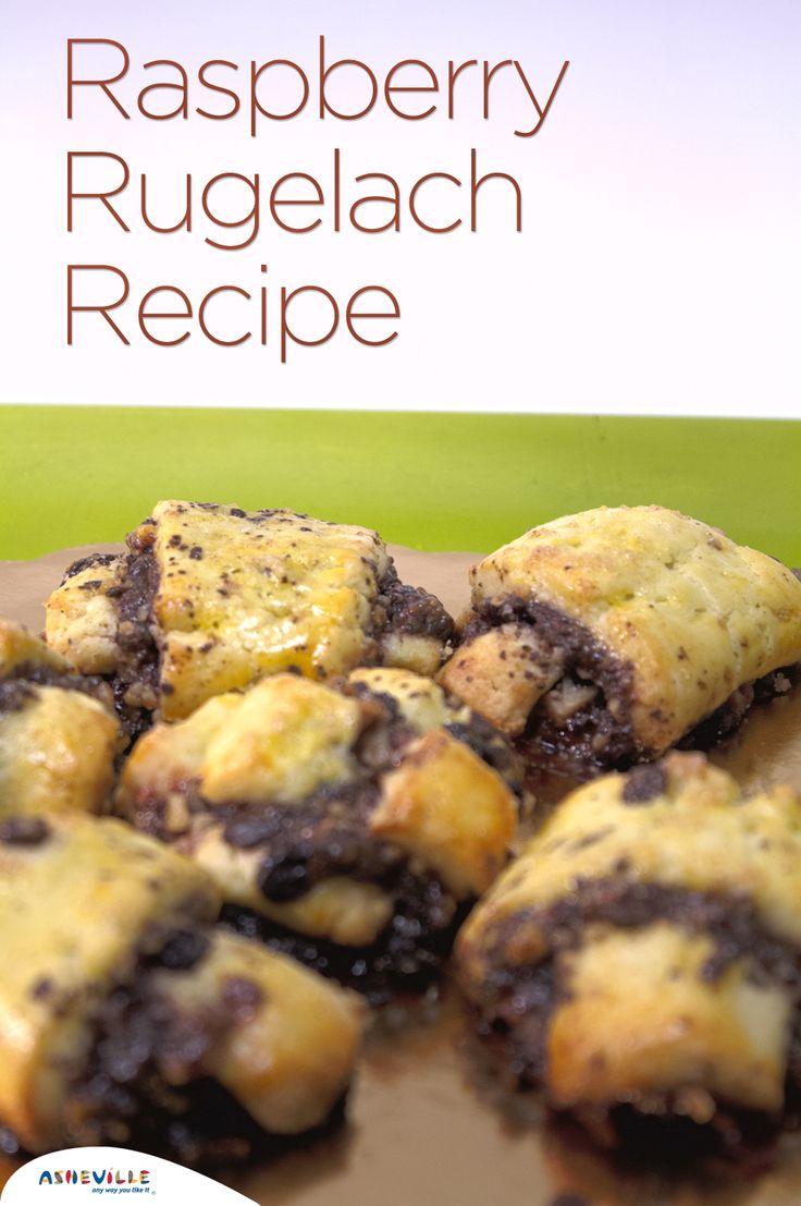 Raspberry Chocolate Rugelach Cookies | cookies & candies | Pinterest
