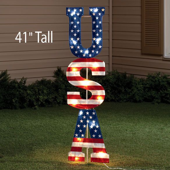 july 4th lighted decorations
