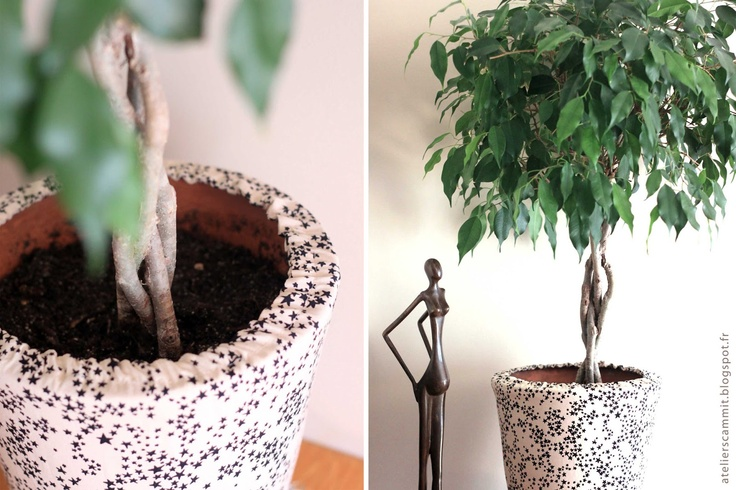 atelier sc mmit cache pot en tissu diy pinterest. Black Bedroom Furniture Sets. Home Design Ideas