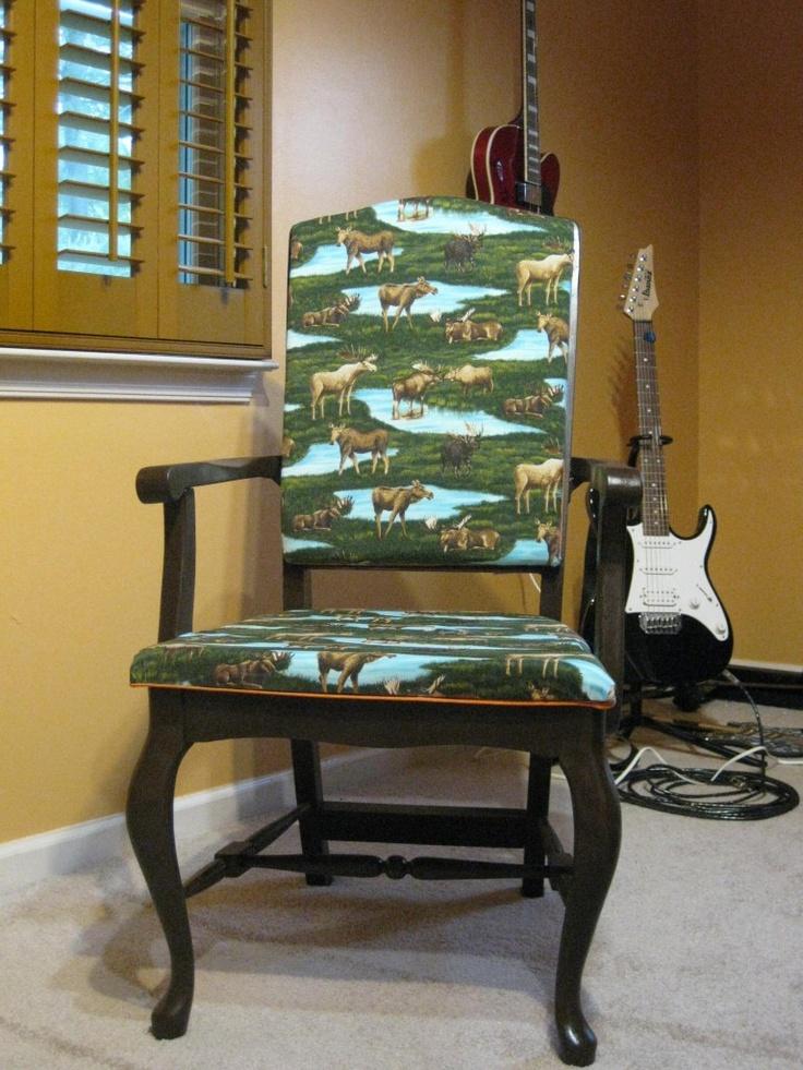 A Reupholster DIY Moose Chair