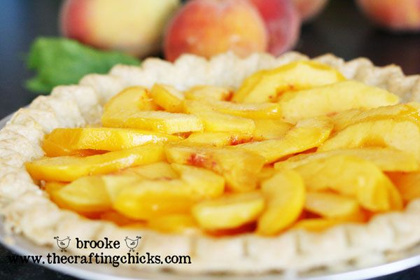 Homemade Peaches and Cream Pie