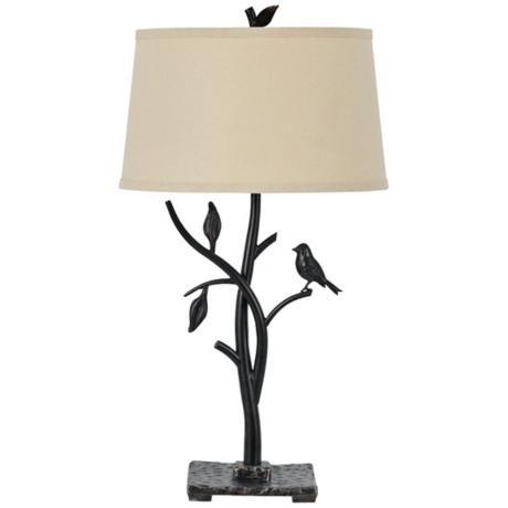 lamp plus medora iron bird table lamp country home ideas pinte