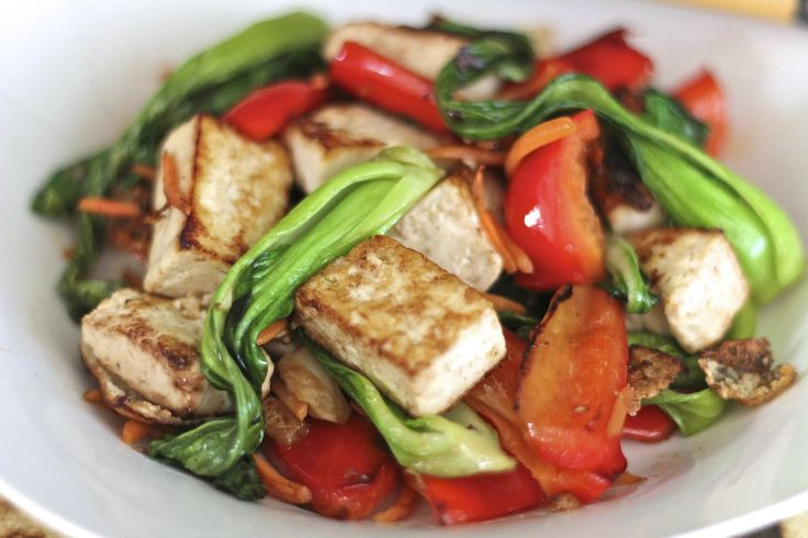 Vegetarian Tofu and Baby Bok Choy Stir Fry-a great go by for dinner ...