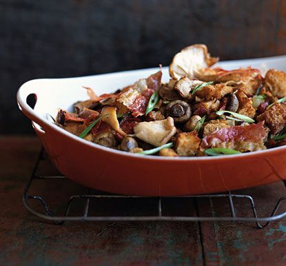 Three-Mushroom Dressing with Prosciutto | Recipe