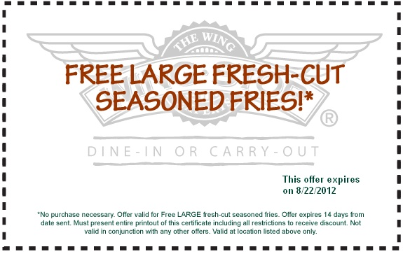 Wingstop online coupons 2018