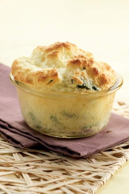 Lighten meal with Asparagus-Goat Cheese Souffle