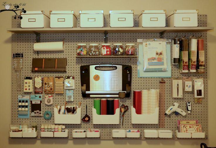 Craft Room Pegboard Organizer 736 x 504