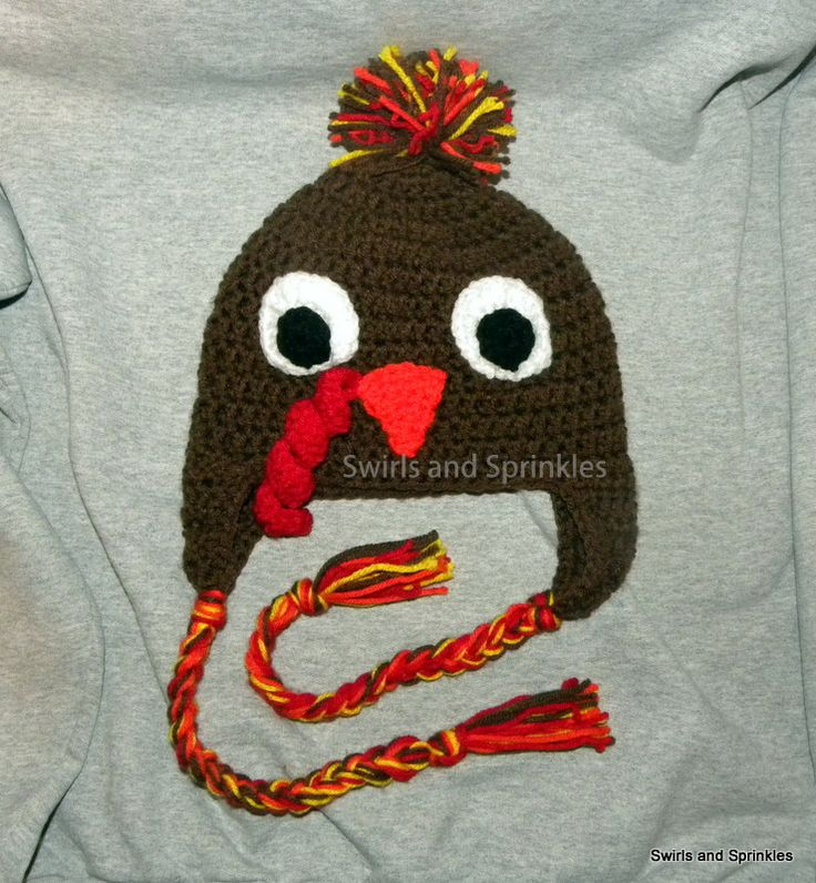 Crochet Baby Hat Pattern Super Bulky Yarn : Free Turkey hat pattern Crochet Hats Pinterest