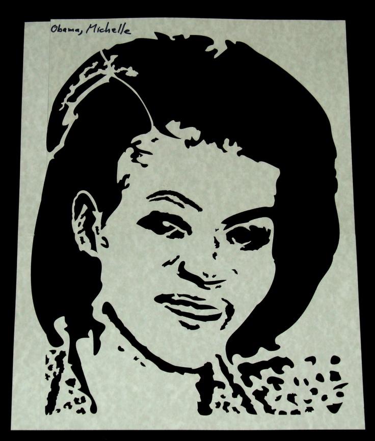 michelle obama design stencil the first family pinterest