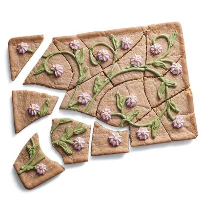 Spring Puzzle Cake flowers cookie