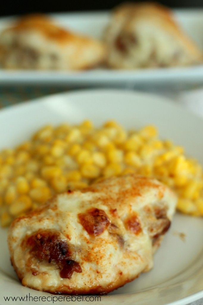Cheese & Bacon Jam Stuffed Chicken Breasts   Recipe