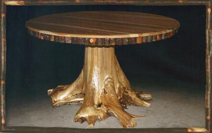 amish rustic dining table 48 round tree trunk stump root
