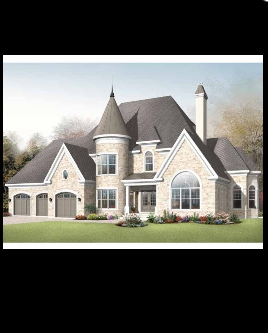Castle Style Home 4200 Sq Ft Home Pinterest