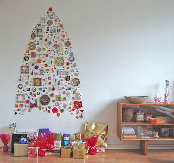 クリスマスツリー壁飾り