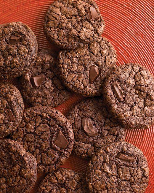 Dark-Chocolate Cookies with Espresso Espresso powder deepens the cocoa ...