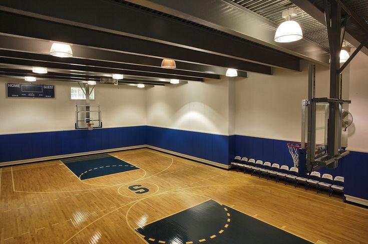 Indoor basketball court home ideas pinterest for Homes with indoor basketball courts