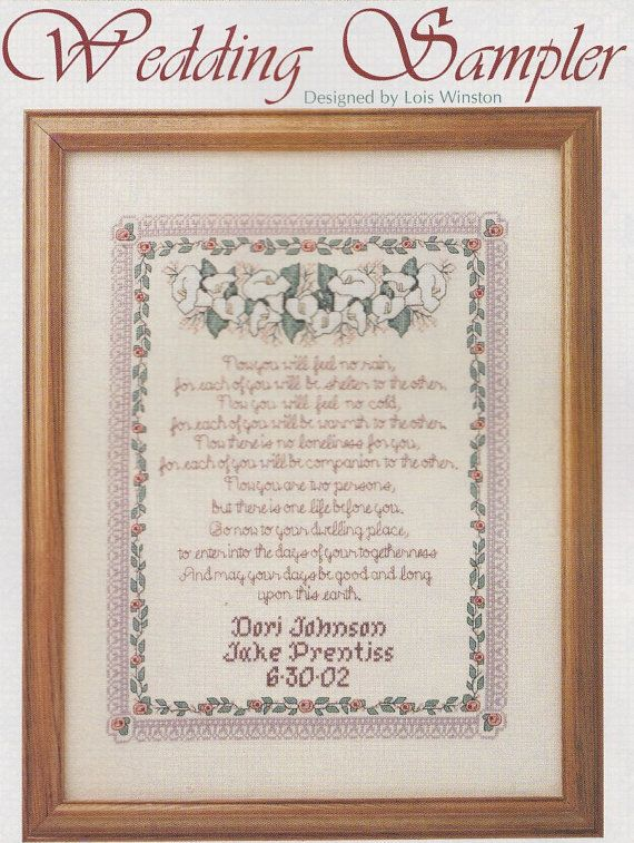 wedding sampler cross stitch pattern wedding by paperbuttercup